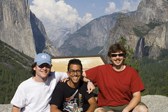 IMG_7505 (Sarah and Jason) Tags: california jason mountains clouds waterfall august 2006 valley yosemite halfdome yosemitenationalpark elcapitan bridalveilfalls yosemitevalley alok august2006 jefft