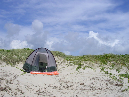 Tent two in the sand