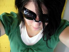selfportrait green me yellow self colorful autoportrait goggles messyhair eyewear grayhair unrealistic swimminggoggles prescriptionswimminggoggles queenofthenerds flatteringangle