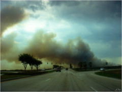 LPGA fires (Bravo_Kilo) Tags: fire driving florida smoke sony surreal cybershot 2006 daytonabeach forestfires 413 drivebyshooting lpga sonydsct9 lpgablvd