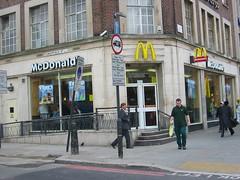 London Kings Cross (McDone) Tags: road uk england london station geotagged restaurant cross britain united great restaurants kingdom mcdonalds kings storefront british storefronts euston geolon0000000 geolat51234407