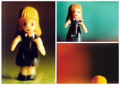 Blondie Redux (Soda Press) Tags: macro film 35mm xpro crossprocessed triptych fuji minolta crossprocessing provia x700 recomposition
