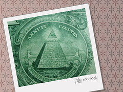 Money (JAMES HALLROBINSON) Tags: money green strange pyramid postcard jr dollar busted annuit couldyoupleaseremovetheguessabletagthx