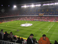 Chelsea and Barca warmup