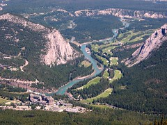 Banff Springs Hotel and Golf Course (altamons) Tags: trees mountain canada mountains water rockies nationalpark interestingness interesting hiking rocky scout canadian explore alberta banff sulphur rockymountains mountainview bowriver mountrundle attraction scramble sulphurmountain rundle banffnationalpark banffspringshotel scrambling canadianrockies scouted explored altamons