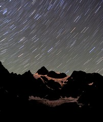 stars over mt. shuksan (Vida Morkunas (seawallrunner)) Tags: usa washington hike backpack wa wilderness mtbaker lakeann cwall abigfave startraces 1373minutes