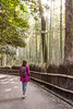Into the Bamboo Forest (Ingo Tews) Tags: japan japanese japanisch tree trees green gruen bamboo forest frau woman bambus wald outdoor heiter pflanze sun sonne sunlight sonnenlicht gegenlicht backlight kyoto arashiyama grove arashiyamabamboogrove