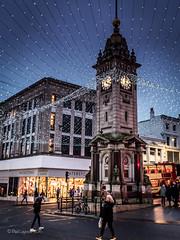 Christmas Clocktower (amipal) Tags: voigtlander brighton christmas city clocktower england europe gb greatbritain lights night rain sussex uk unitedkingdom urban wet