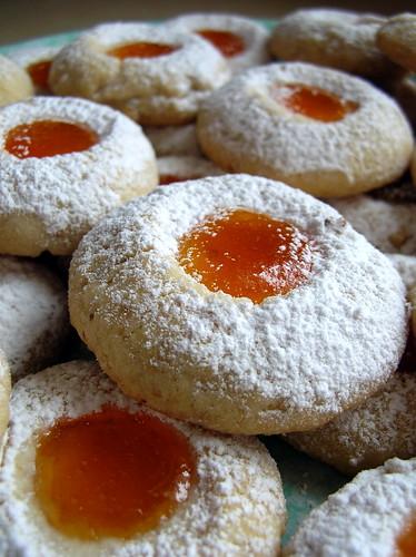 Apricot Jam Thumbprint Cookies