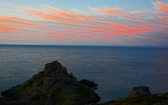 White Rock. (Lee1885) Tags: sunset sea sky france nikon trinity jersey whiterock channelisland
