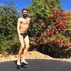 IMG_6990 (danimaniacs) Tags: shirtless man hot sexy guy beard fun jump trampoline trunks speedo swimsuit stud scruff bulge mansolo