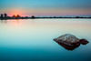 Kalochori I (Gregoris Mentzas) Tags: longexposure sunset sea sun seascape landscape lagoon thessaloniki tranguil kalochori