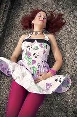 Pin_Lee_18 (Doowin Aipache) Tags: roof girls urban rock tattoo female skull graffiti model dress cloudy tag sunny piercing un rockabilly poison unicorn pinup calavera urbex ajouter hellbunny