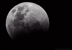 Luna eclipsada en Patagonia