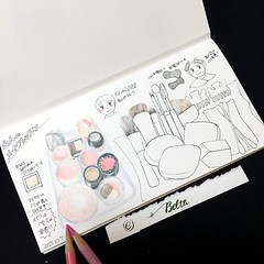 2015_10_11_makeup_03_s (blue_belta) Tags: make sketch journal sketchbook coloredpencil     travelersnotebook
