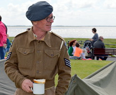 Cuppa at Lytham Wartime Festival 2015 (Tony Worrall) Tags: show county uk england holiday festival town costume seaside war uniform stream tour open place northwest country north picture visit scene location tony resort event coastal area soldiers annual northern update morecambe attraction wartime fylde holidaytown bythesea seasidetown fyldecoast worrall welovethenorth 2015 2015tonyworrall pictureofthenorth