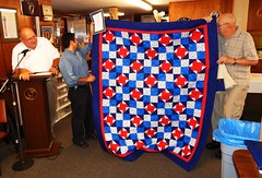 Quilt of Valor recipient Raymond Garcia (Middle)