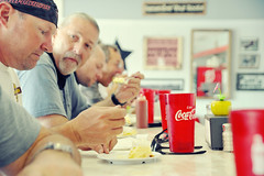 Snowville Snack (Ernie Fischhofer) Tags: trip travel food pie cafe nikon character diner roadtrip adventure biking mollie motorcycle rest hungry cocacola backroads grits diners breaktime snowville d700 molliesdiner whatstatearewein