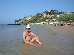 San Stefanos, Corfu (pj's memories) Tags: beach slip speedos kinik tanthru