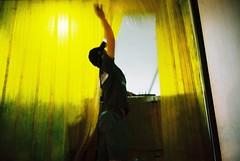 Flowers from the North (khemchen) Tags: man film yellow night truck thailand lomography bangkok freezing labour flowermarket loading logistics filmisnotdead bessar3m voigtlanderbessar3m voigtlander40mm14 lomographyiso800