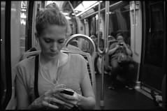 (franck__l) Tags: people blackandwhite paris monochrome noiretblanc metro citylife streetphotography moderntimes 2015 metroboulotphoto