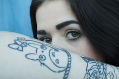 TotoroBlue (tiki.thing) Tags: blue portrait tattoo eyes totoro