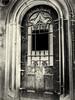 Prague, The New Cemetery (1mpl) Tags: bw monochrome cemetery doors prague czechrepublic crypt travelphotography niksilverefexpro olympusomdem1
