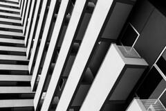 Linhas (Leandro C Rodrigues) Tags: bw white black lines linhas shadows squares geometry perspective perspectiva sombras geometria quadrados