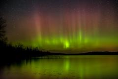 Bemidji Aurora 2 (Jacob Laducer) Tags: light lake minnesota woods north burst mn auroraborealis