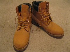 Wheat Timbs 4 (timbotims7) Tags: gay hot sexy leather yellow fetish boot floor boots wheat pair sole laces timberland timberlands timbs nubuck