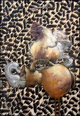 Bom.K + Shoof (dtail) (Chrixcel) Tags: streetart tunisia djerba tag graff dmv coq featuring jarre calligraphie arturbain calligraffiti shoof bomk damentalvaporz djerbahood
