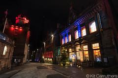 Top of the Royal Mile (Kit Carruthers) Tags: winter night scotland edinburgh december royalmile f8 2015 samyang14mmf28 sonya7ii