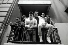 May-Day Crew (R.O.Y.G.B.I.V.) Tags: city friends berlin film kreuzberg balcony group teenagers pals crew kodaktrix mayday posse leicam3 chanyungco leicasuperangulon21mmf34 pullforlife