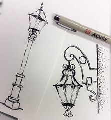 Street lights (Kate_Lokteva) Tags: art sketch drawing sketchbook marker draw markers artworks letraset promarkers