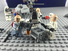 LEGO - Minifigures build an AT-AT, stormtrooper Bob takes the photos (cazcarrot) Tags: camera trooper macro closeup starwars lego action stormtroopers humour walker stormtrooper vehicle atat iphone minifigures clonetroopers carolinewilson cazcarrot