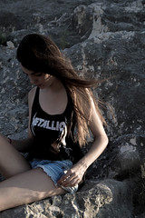 - (RokerEsp) Tags: summer portrait people mountains girl atardecer mujer model women chica exterior gente retrato young modelo metallica verano campo dawning montaa aire libre joven tirantes