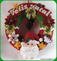 GUIRLANDA FELTRO (CORES, AMORES E CAF (Cris)) Tags: natal felt feliznatal feltro natale merrycristhmas coresamoresecaf