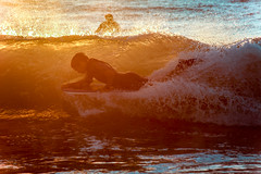 Through the Water and Flames (.GABRIELLE.) Tags: sunset holidays summer beach ocean surfer wave water sport france trucvert capferret canon 5dmarkiii 70300mm ef70300mmf456isusm zoomlens