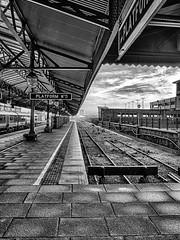Station (Mac McCreery) Tags: moorstreetstation platform hdr blackandwhite monochrome railway railwaystation birminghamuk england pentaxk5iis sigma1770dcmacro
