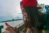 Piw 26-12-59 (yuttakornrungsri) Tags: nikon d5300 5300 สงขลา ประเทศไทย ผู้หญิง lr iamkorn piw สมัครเล่น ทานตะวัน เขียว ใบไม้
