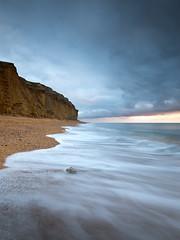 Duplicate (Sarah_Brooks) Tags: beach cliff mirrored duplicate mimic copy reflect sea longexposure dorset waves water