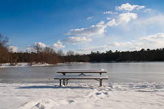 Sessizlik / Silence (Atakan Eser) Tags: freehold newjersey turkeyswarmpark usa bank beyaz buz dsc0224 göl ice kar lake snow white unitedstates us