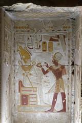Seti I and Osiris (Chris Irie) Tags: egypt abydos seti temple relief osiris