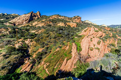 Red Rock Canyon, Topanga, CA ((Jessica)) Tags: rocks geology redrock redrockcanyon topanga topangacanyon losangeles losangelescounty lacounty california hiking hike climbing shadow landscape wideangle rokinon12mm rokinon sonya6000 sonyalpha sony a6000