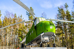 USSR old Mi-4 helicopter on the pedestal in forest (mikhafff1984) Tags: ussr army engine force forest helicopter mechanical military navy pedestal propeller rescue rotor spring transportation twilight veryold winter