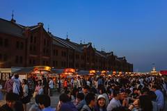 Yokohama Red Brick Warehouse (nan_cake) Tags: yokohama kanagawa japan bay brick bricks warehouse festival summer akarenga night nite beer