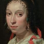 BRAY (de) Jan - Portrait d'une Jeune Femme (Custodia) - Detail 2 thumbnail