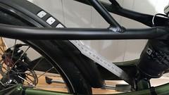 Rear fender mount made from stainless steel ruler (gunnsteinlye) Tags: recumbent bicycle cruzbike quest skien norway