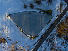 Winter Drone - Pond (Matt Champlin) Tags: dronephotography drone drones dji djiphantom4 phantom4 2017 aerial snow winter cold winterdroneshots skaneateles home cny fingerlakes hartlot village tree christmas syracuse designs patterns