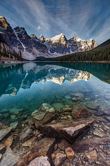The Iconic Moraine Lake (PIERRE LECLERC PHOTO) Tags: morainelake banff nationalpark alberta canada nature landscape travel outdoors explore adventure roadtrip mountains peak 10peaks sunrise lake reflection hdr dynamicrange blue morning snowsummit wilderness popular shoreline shore mirror pierreleclercphotography canon5dsr largeprints